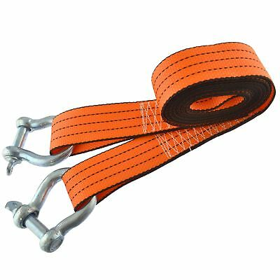 Tow Rope / Towing Road Recovery Strap With Two Shackles 4 Metre 3 Ton SM007 • 12.49£