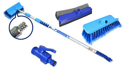 2m Aluminium Telescopic Water Fed Extending Wash Brush Squeegee Car House Window • 14.95£