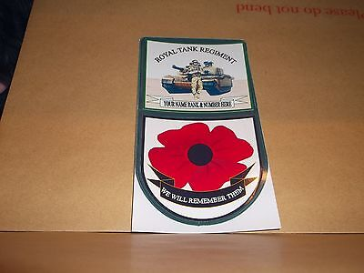 Royal Tank Regiment Car Window Rememberance Sticker. • 6£