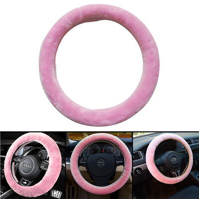 Pink Fluffy Steering Wheel Cover/ Glove - Pinky -Universal Fits 37-39cm Diameter • 6.99£