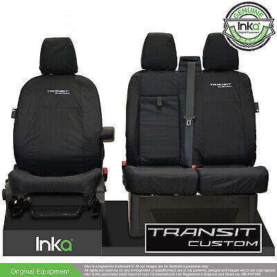 Ford Transit Custom MY 2012-2020 INKA Tailored Waterproof Front Seat Cover Black • 69.95£