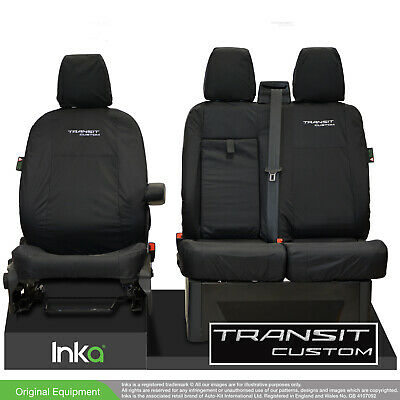 Ford Transit Custom MY2012-2021 INKA Tailored Waterproof Front Seat Covers Black • 69.95£