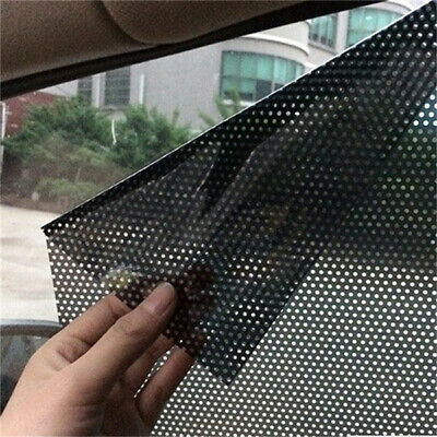 2x Car Auto Side Window Mesh Film Windshield Net Sun Shade Sticker UV Protection • 5.39£