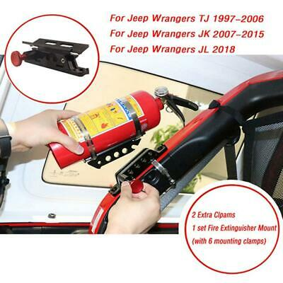 Quick Release Fire Extinguisher Roll Cage Bar Bracket Band Clamp Mount 2.5lb • 23.53£