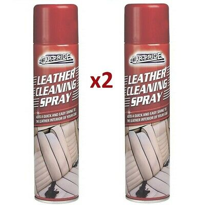 2x Leather Cleaner Seat Sofa Care Valet Interior Clean Spray Upholstery Shine • 6.49£