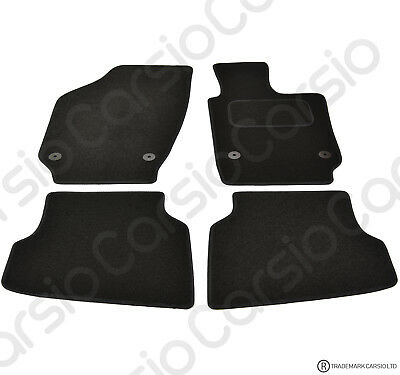 Volkswagen Polo 6R 2009 To 2018 Tailored Carpet Car Floor Mats In Black 4pcs • 11.85£