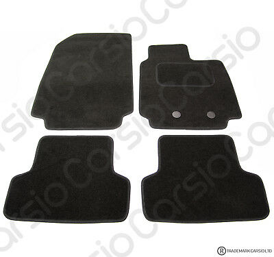 Renault Clio 2009 To 2013 Tailored Black Car Floor Mats Carpets 4pc Set W/Clips • 11.26£
