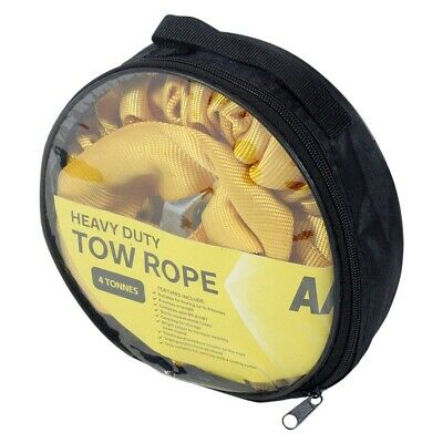 AA Tow Rope 4 Tonne Ton Elastic Heavy Duty Strong Rope Car Van Strap • 9.39£