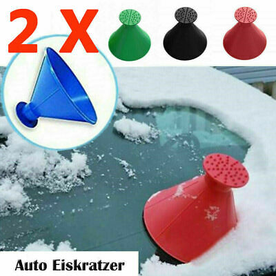 2X Magical Car Windshield Ice Snow Remover Scraper Tool Funnel Cone Shaped Round • 2.99£