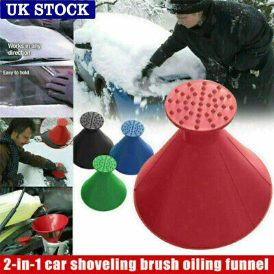 Magical Car Windshield Ice Snow Remover Scraper Tool Shaped Round Funnel Cone • 3.96£