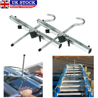 2 Locks Universal Heavy Duty Ladder Roof Rack Clamp Clamps Lockable Safe Ladders • 13.59£