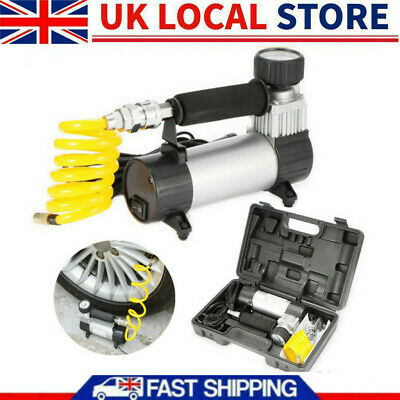Heavy Duty 12v Electric Car Tyre Inflator 150psi Air Compressor Pump Uk • 19.18£