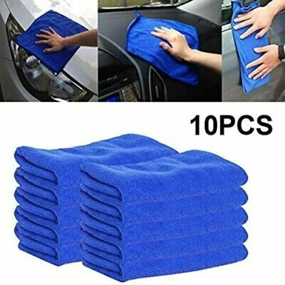 Large Microfibre Home Kitchen Car Valeting Dusters Polishing Cleaning Cloths New • 4.99£