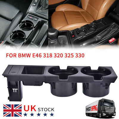 Center Console Cup Holder Black Cup Holder Coin Storage Tray For E46 325 330 BE • 16.31£