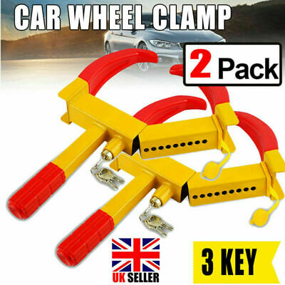 2PCS Wheel Lock Anti Theft Wheel Clamp 4 Mobility Scooter Disabled Bike CE UK • 23.82£